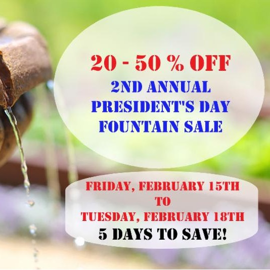 Fountain Sale at The Great Outdoors