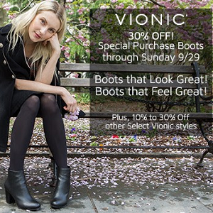 Vionic Boot Sale at InStep