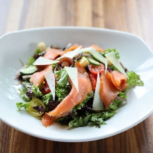 FREE Queso with Salmon Salad at Kerbey Lane