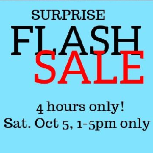 Flash Sale Four Hours Only at Bloomers and Frocks