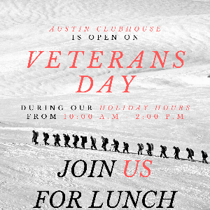 Veteran's Day at Austin Clubhouse