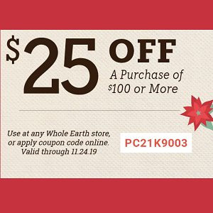 Coupon For Whole Earth Provision Co.