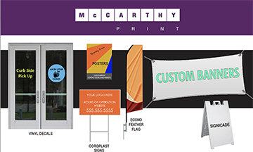 Banners for Reopening from McCarthy Print